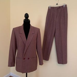 Vintage Panther Red Plaid Suit - Matching 7/8